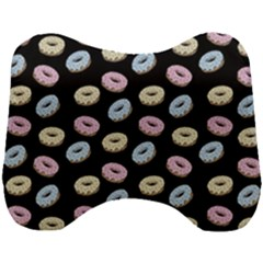 Donuts Pattern Head Support Cushion by Valentinaart