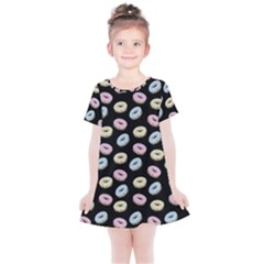 Donuts Pattern Kids  Simple Cotton Dress by Valentinaart