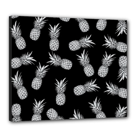 Pineapple Pattern Canvas 24  X 20  (stretched) by Valentinaart