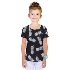 Pineapple Pattern Kids  One Piece Tee by Valentinaart