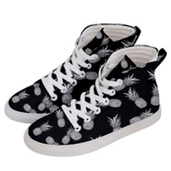 Pineapple Pattern Men s Hi-top Skate Sneakers by Valentinaart