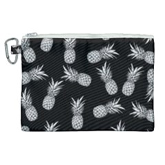 Pineapple Pattern Canvas Cosmetic Bag (xl) by Valentinaart