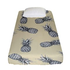 Pineapple Pattern Fitted Sheet (single Size) by Valentinaart
