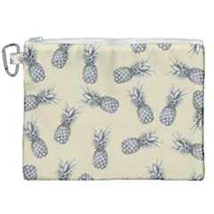 Pineapple Pattern Canvas Cosmetic Bag (xxl) by Valentinaart