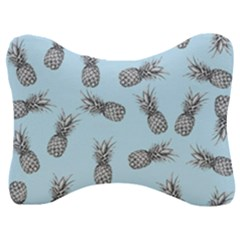 Pineapple Pattern Velour Seat Head Rest Cushion by Valentinaart