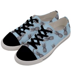 Pineapple Pattern Men s Low Top Canvas Sneakers by Valentinaart
