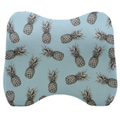 Pineapple Pattern Velour Head Support Cushion by Valentinaart