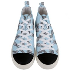 Pineapple Pattern Men s Mid Top Canvas Sneakers