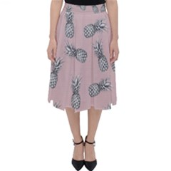 Pineapple Pattern Classic Midi Skirt by Valentinaart