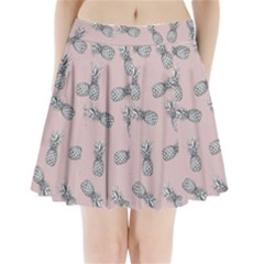 Pineapple Pattern Pleated Mini Skirt