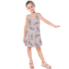Pineapple Pattern Kids  Sleeveless Dress