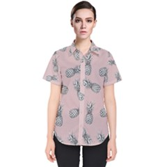 Pineapple Pattern Women s Short Sleeve Shirt
