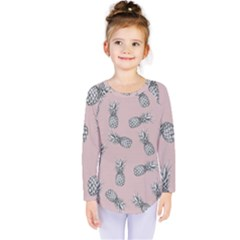 Pineapple Pattern Kids  Long Sleeve Tee