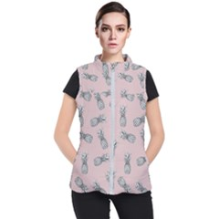 Pineapple Pattern Women s Puffer Vest