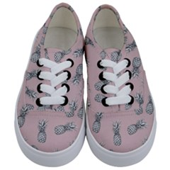 Pineapple Pattern Kids  Classic Low Top Sneakers