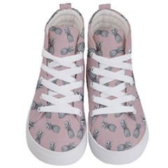 Pineapple Pattern Kid s Hi Top Skate Sneakers