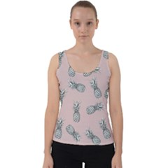 Pineapple Pattern Velvet Tank Top