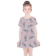 Pineapple Pattern Kids  Simple Cotton Dress