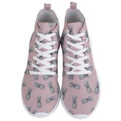 Pineapple Pattern Men s Lightweight High Top Sneakers