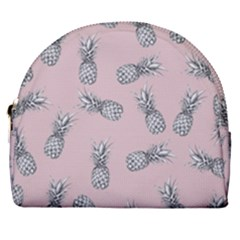 Pineapple Pattern Horseshoe Style Canvas Pouch