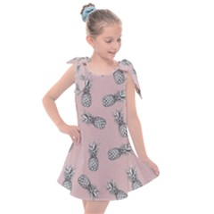 Pineapple Pattern Kids  Tie Up Tunic Dress