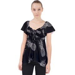 Pineapple Pattern Lace Front Dolly Top