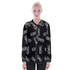 Pineapple Pattern Womens Long Sleeve Shirt