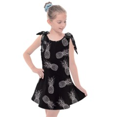 Pineapple Pattern Kids  Tie Up Tunic Dress by Valentinaart
