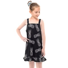 Pineapple Pattern Kids  Overall Dress