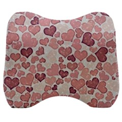 Sparkling Hearts 181 Velour Head Support Cushion by MoreColorsinLife