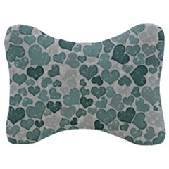 Sparkling Hearts 182 Velour Seat Head Rest Cushion