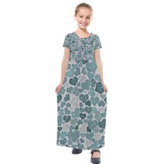 Sparkling Hearts 182 Kids  Short Sleeve Maxi Dress by MoreColorsinLife