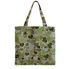 Sparkling Hearts 183 Zipper Grocery Tote Bag