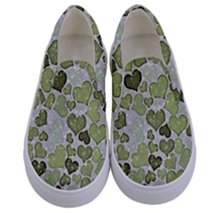 Sparkling Hearts 183 Kids  Canvas Slip Ons
