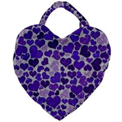Sparkling Hearts Blue Giant Heart Shaped Tote by MoreColorsinLife