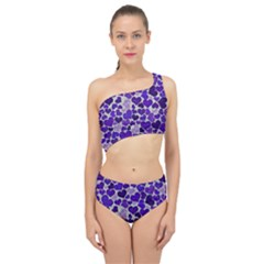 Sparkling Hearts Blue Spliced Up Two Piece Swimsuit