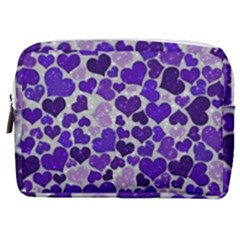 Sparkling Hearts Blue Make Up Pouch (medium)