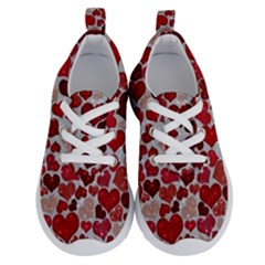 Sparkling Hearts, Red Running Shoes by MoreColorsinLife