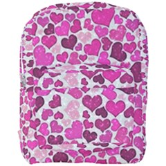 Sparkling Hearts Pink Full Print Backpack