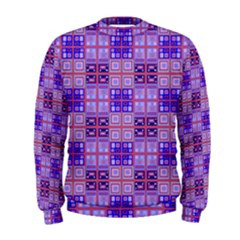 Mod Purple Pink Orange Squares Pattern Men s Sweatshirt