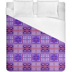 Mod Purple Pink Orange Squares Pattern Duvet Cover (california King Size)