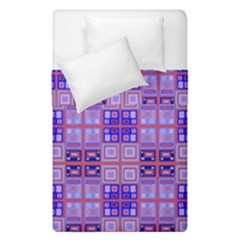 Mod Purple Pink Orange Squares Pattern Duvet Cover Double Side (single Size)
