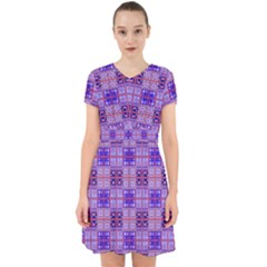Mod Purple Pink Orange Squares Pattern Adorable In Chiffon Dress