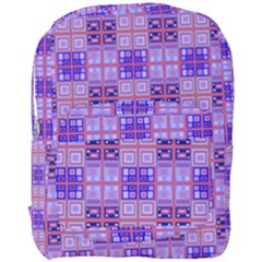 Mod Purple Pink Orange Squares Pattern Full Print Backpack