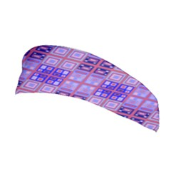 Mod Purple Pink Orange Squares Pattern Stretchable Headband