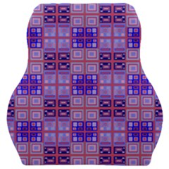 Mod Purple Pink Orange Squares Pattern Car Seat Velour Cushion