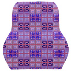 Mod Purple Pink Orange Squares Pattern Car Seat Back Cushion
