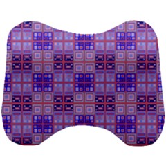 Mod Purple Pink Orange Squares Pattern Head Support Cushion