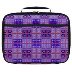 Mod Purple Pink Orange Squares Pattern Full Print Lunch Bag