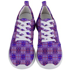 Mod Purple Pink Orange Squares Pattern Men s Lightweight Sports Shoes